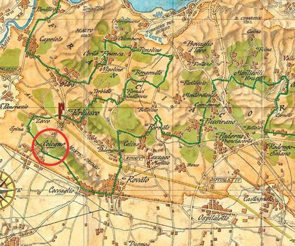 mappa della franciacorta locazione vigneti cenci