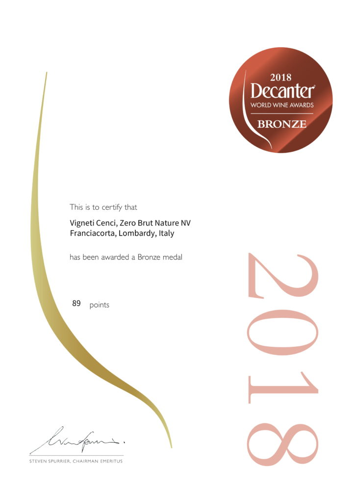 zero brut nature bronze decanter world wine awards 2018 vigneti cenci